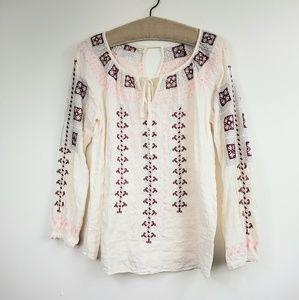 Johnny Was Workshop Boho Peasant blouse
